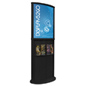 Black Wooden Poster Display Stand with Top Insert Channel