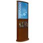 Cherry Poster Stand with Top Insert Slot