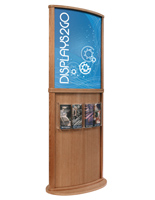 Light Oak Poster Stand, Double Sided