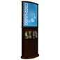 Red Mahogany Poster Stand with Top Insert Slot