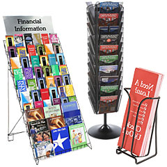 Steel wire frame brochure racks