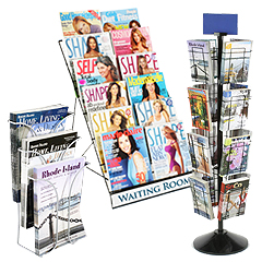Wire frame magazine holders