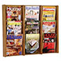 9 Pocket Wood Magazine Rack