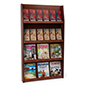 12-Pocket Wood Wall Magazine Rack