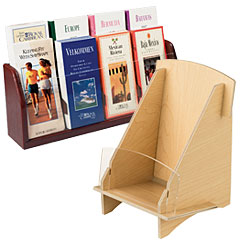 Wooden Countertop Brochure Holders