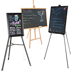 easels with write on boards