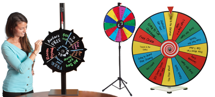 write-on prize wheels