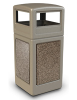 Beige Square Commercial Waste Bin