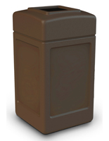 Brown Commercial Trash Can