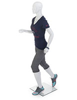 Female Running Mannequin with Gloss White Finish