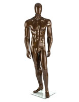 Bronze Male Mannequin with Athletic Build