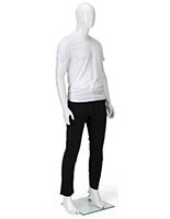 White Male Mannequin with Accented Feet