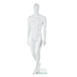 Abstract Male Fiberglass Mannequin w/ Heel and Calf Rod for Stability Options