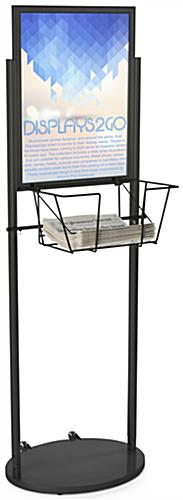 Black 18 x 24 Mobile Poster & Literature Stand, Powder Coated