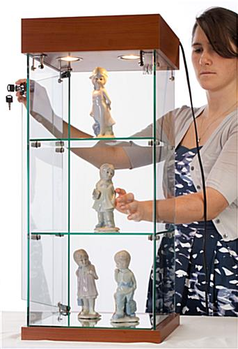Shop Counter Glass Display Cabinets That Are Part Of The EuroVū Line - Assembly Required