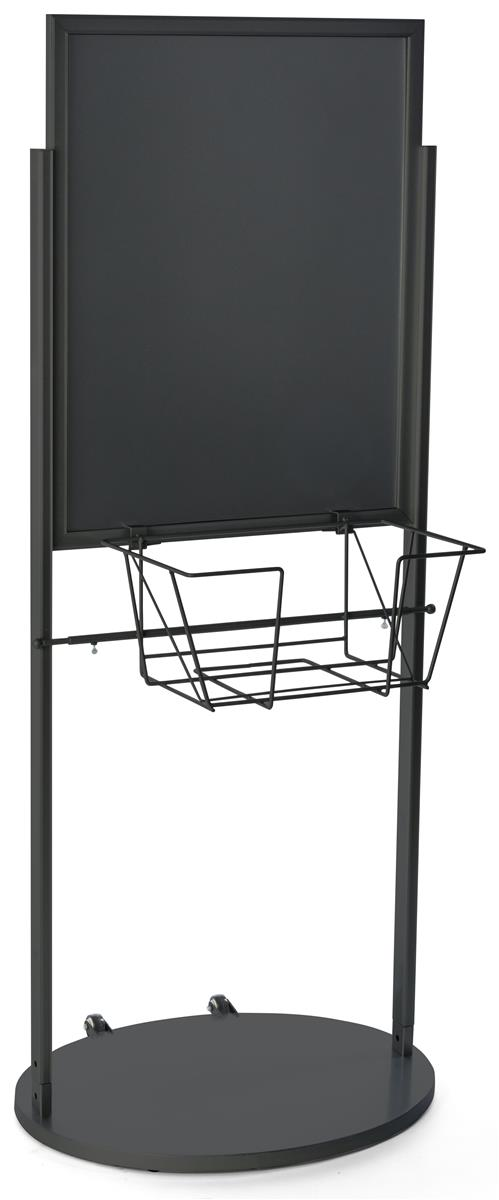 Dual sided poster display with pamphlet rack black 22 x 28 - Porta poster amazon ...