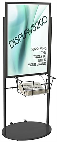 Black 24 x 36 Poster and Literature Stand with Wheels for Visuals