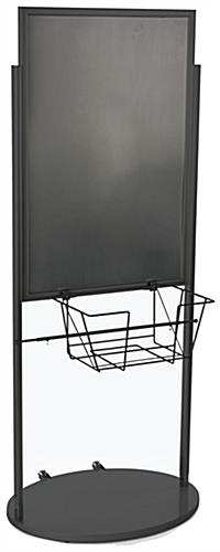 Black 24 x 36 Poster and Literature Stand with Wheels