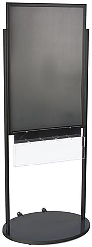 Black 24 x 36 Mobile Poster Display with 10 Literature Slots, Powder Coated