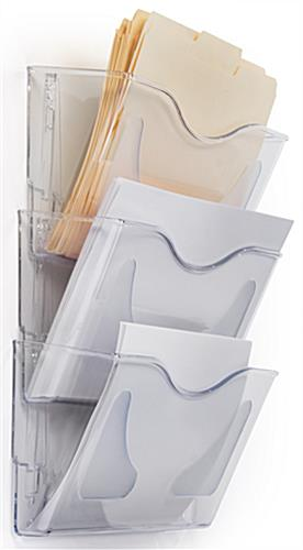Nesting Clear Wall File Holder