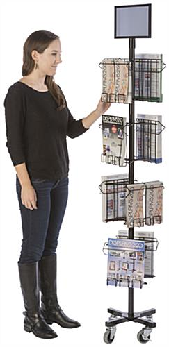 Floor Standing Literature Carousel with Removable Header
