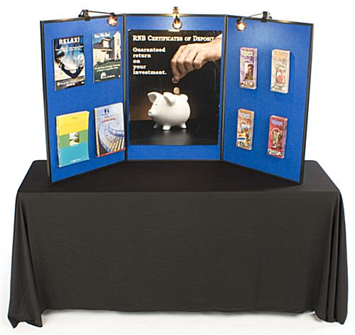 Exhibition Displays Bristol : Blue presentation boards trade show displays with accent