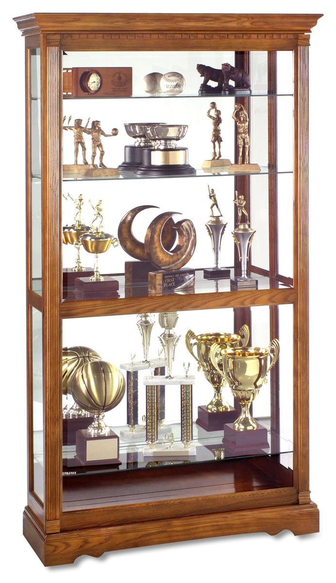 This display cabinet is an oak wood yorkshire showcase for