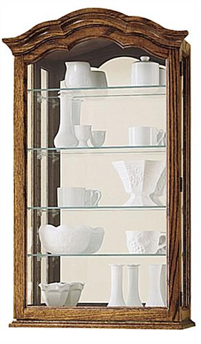 wall curio cabinets