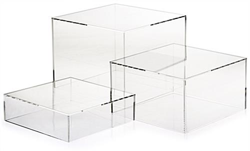 Clear Acrylic Cube Set of 3