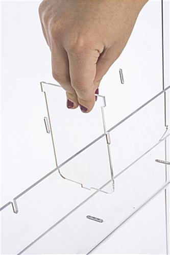 Acrylic Brochure Stand with Pre-Cut Slots