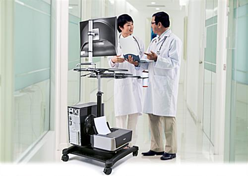 Stand Up Mobile Workstation for Hospitals or Businesses