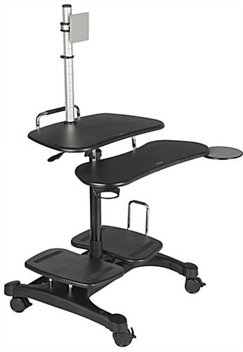 Stand Up Mobile Workstation for Business or Home Use