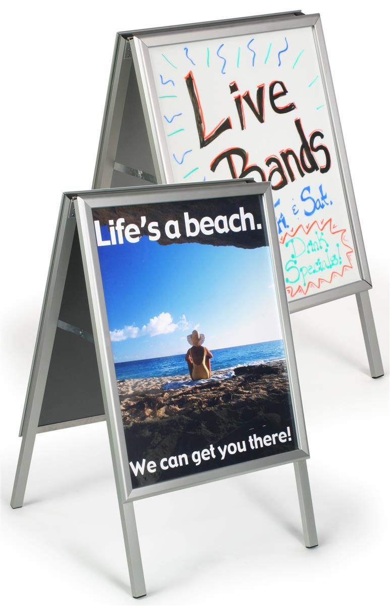 Double Sided Sidewalk Sign Foldable 24 X 38 Graphics