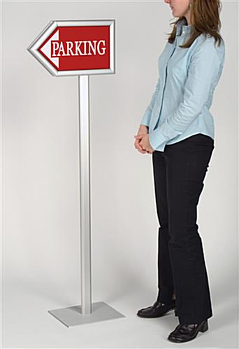 Directional Sign Stand Double Sided Arrow Design