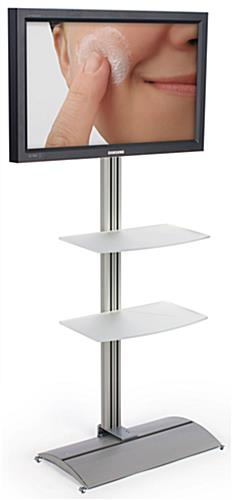Plasma TV STands With 2 Acrylic Shelves And Tilt Mount Bracket