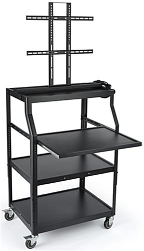 LCD Cart with Pull Out Shelf