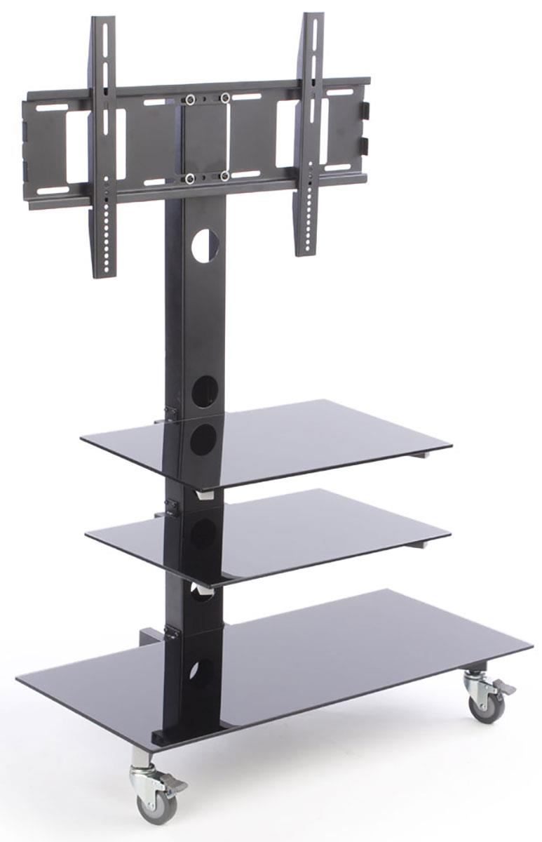 this tv stand compatible with 19 monitors includes three glass shelves this tv stand has. Black Bedroom Furniture Sets. Home Design Ideas