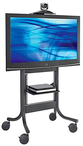 These Tv Stands With Casters Are Mobile Digital