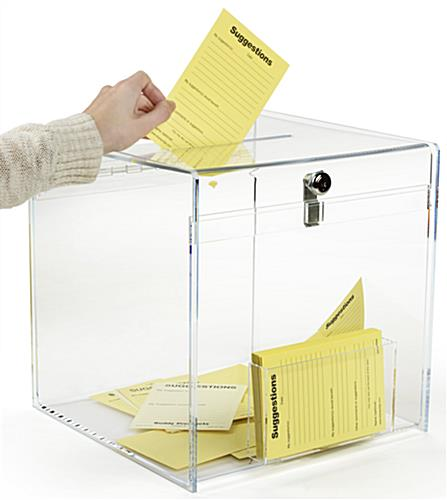 Top Insert Plexiglass Donation Box