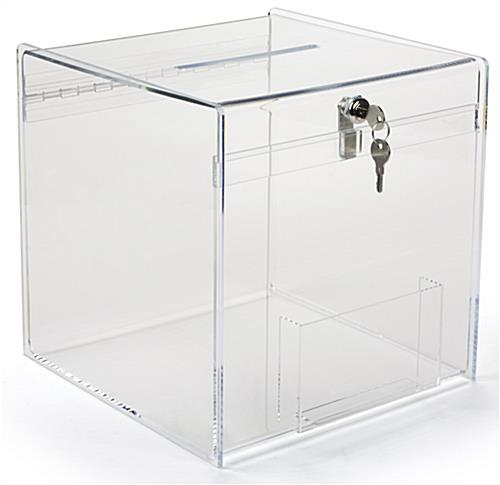 Plexiglass Donation Box with Hinged Top