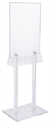 Acrylic Poster Stand with Business Card Holders with Side Insert