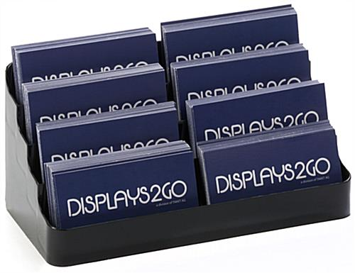 4-Tiered Eight Pocket Business Card Holder