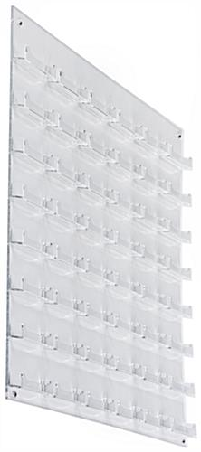 Clear 48-Pocket Business Card Wall Rack, Clear Plastic