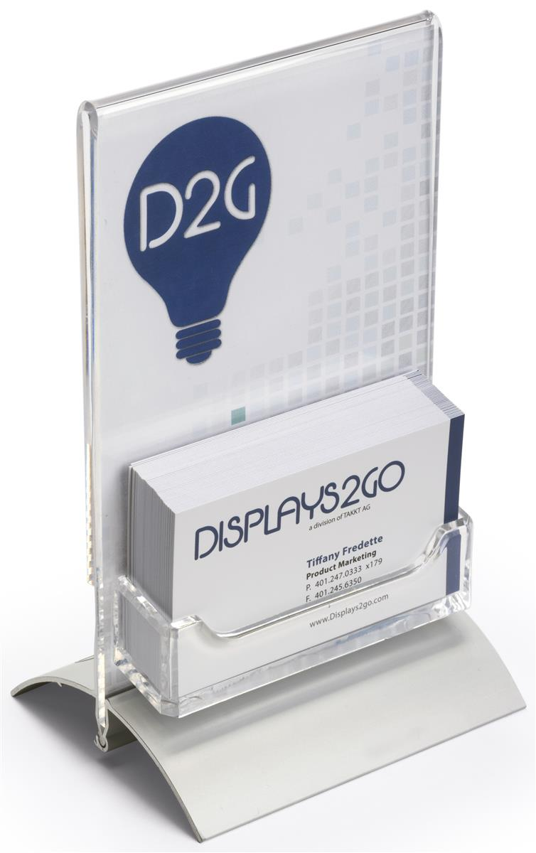 """business card holders with sign display  4"""" x 6"""" frame"""