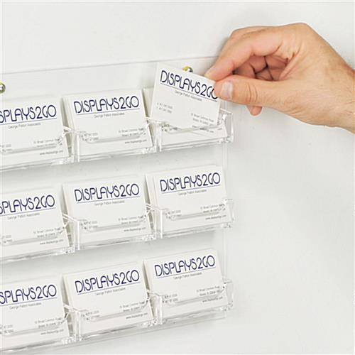 Business Card Holder Wall Mount