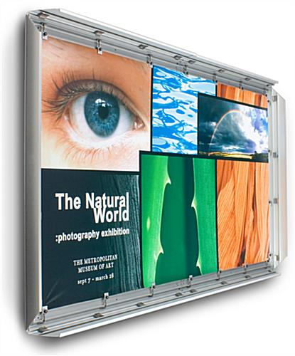 4' x 6' Silver Banner Stretching Frame with Snapping Edges