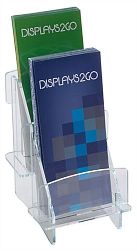 Multi Pocket Tiered Knock Down Brochure Holder