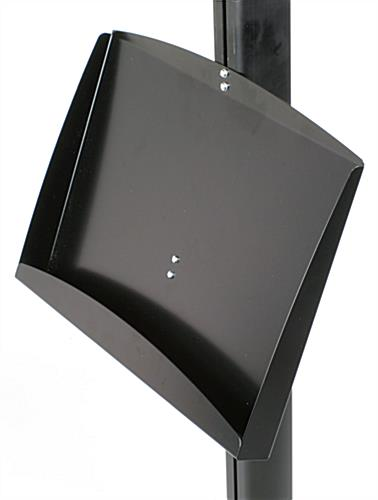 steel literature tray