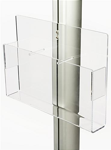 Acrylic Brochure Holder with Removable Dividers
