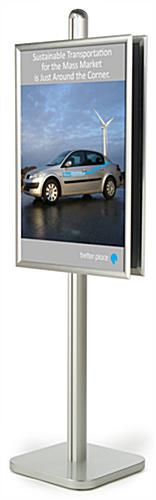 Poster Frame Display Stand Includes Two 24 x 36 Holders